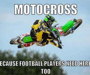 football, heroes, and motocross image