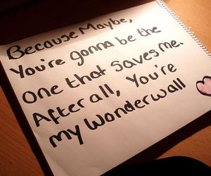 wonderwall, oasis, and Lyrics image