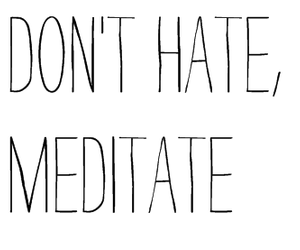 meditate, black, and text image