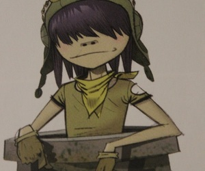 girl, glases, and gorillaz image