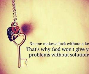 quote, key, and god image