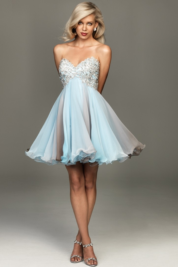 3dadefad9433 Evenings by Allure A408 - Blue Party Dress, Beaded Dresses ...