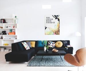b&w, design, and living room image