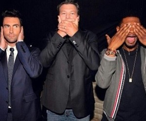 usher, adam levine, and the voice image