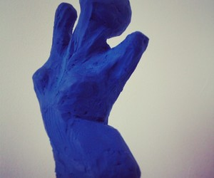 artist, blue, and clay image