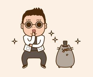 psy, cat, and pusheen image