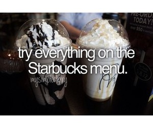before i die, starbucks, and to do image