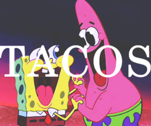 tacos, food, and patrick image