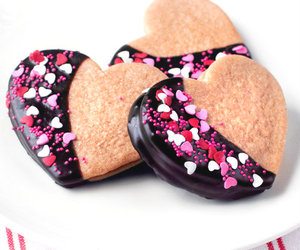 Cookies, heart, and pastel image