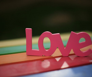 love, pink, and photography image