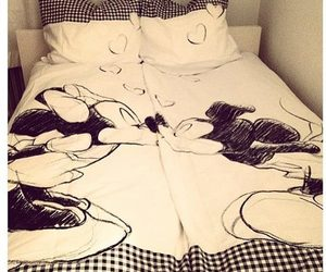 bed, mickey mouse, and decoration image