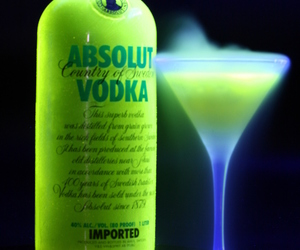 neon, vodka, and absolute image