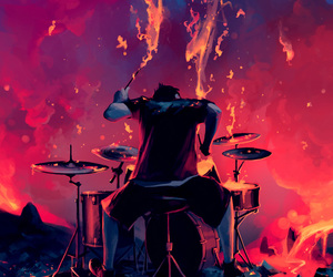 drums, music, and art image