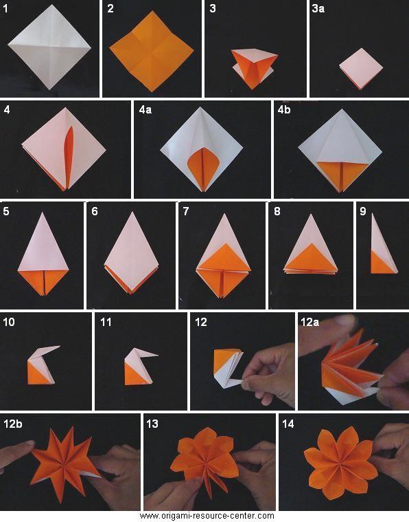 Easy Origami Flower Tutorial | HGTV | 759x596
