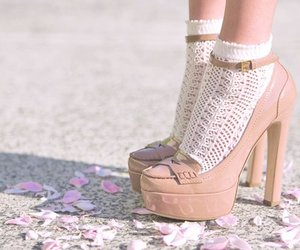 heels, pale pink, and pastels image