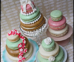 food, green, and macarons image