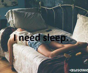 sleep, need, and bed image