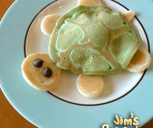 pancakes, food, and turtle image