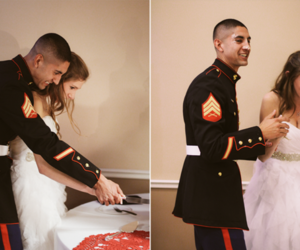 couple, kiss, and Marines image