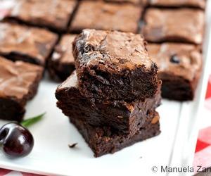 brownies, cherry, and chocolate image