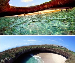 beach, mexico, and sea image