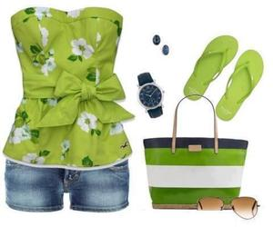 summer wear and fun at the beach outfit image