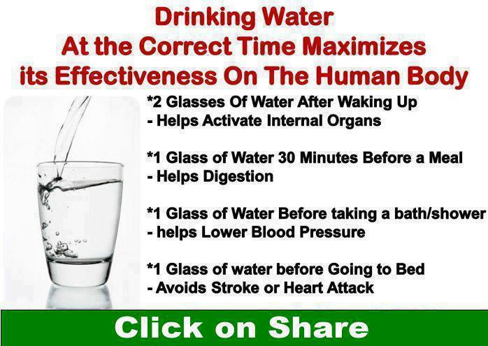 drinking water before bed