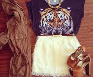 fashion, outfit, and tiger image