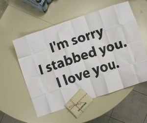 sorry, love, and quotes image