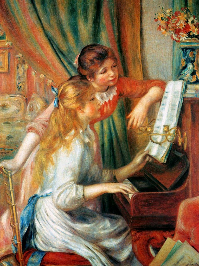 Renoir, piano, and art image