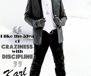 black and white, karl lagerfeld, and craziness image