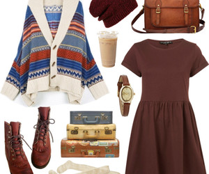 aztec, beanie, and dress image