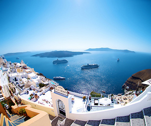 summer, Greece, and santorini image