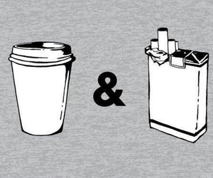 cigarette and coffee image