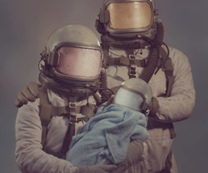 family, astronaut, and baby image