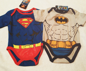 baby, batman, and heroes image