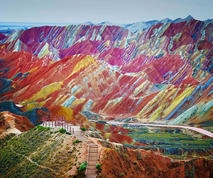 china, mountains, and colorful image