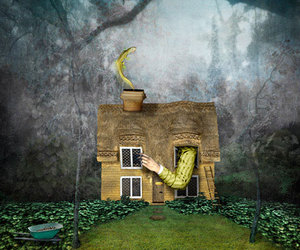 alice in wonderland, Lewis Carroll, and little house image