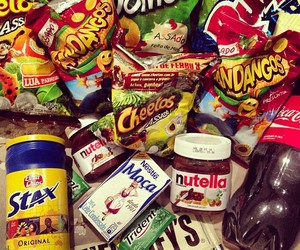 nutella, food, and Cheetos image