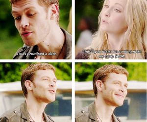 the vampire diaries, klaus, and caroline forbes image