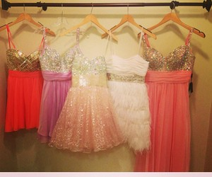 dress, pink, and girly image