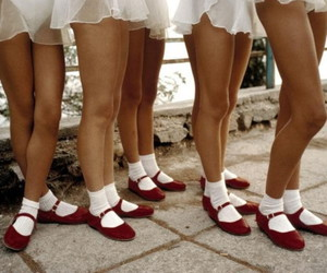 legs, red shoes, and dancers image