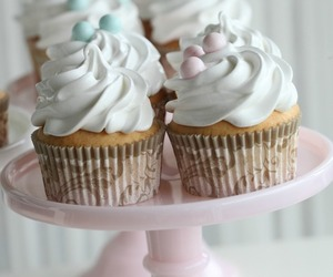 cupcake, food, and pastel image