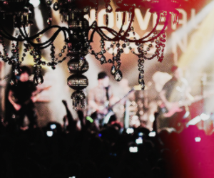 chandelier, concert, and fall out boy image
