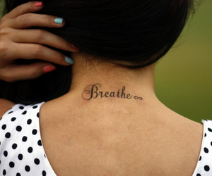 breathe, nails, and tattoo image