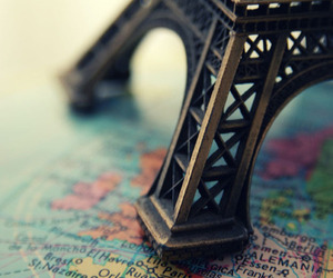 paris, map, and france image