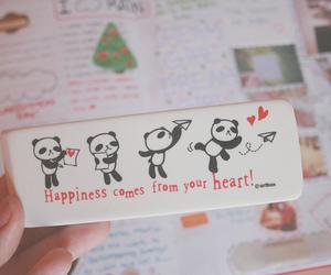panda, cute, and heart image