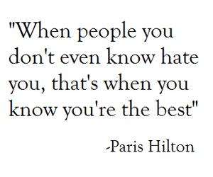 quotes, paris hilton, and hate image