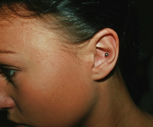 conch, ear, and girl image