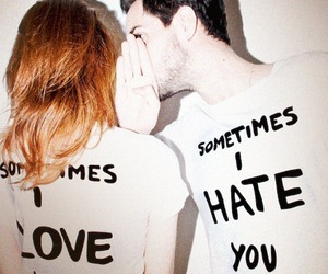 love, hate, and couple image